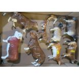 Nine Beswick models, of cattle, to include Hereford Bull, Dunsley Coy Boy, Newton Tinkle, etc,
