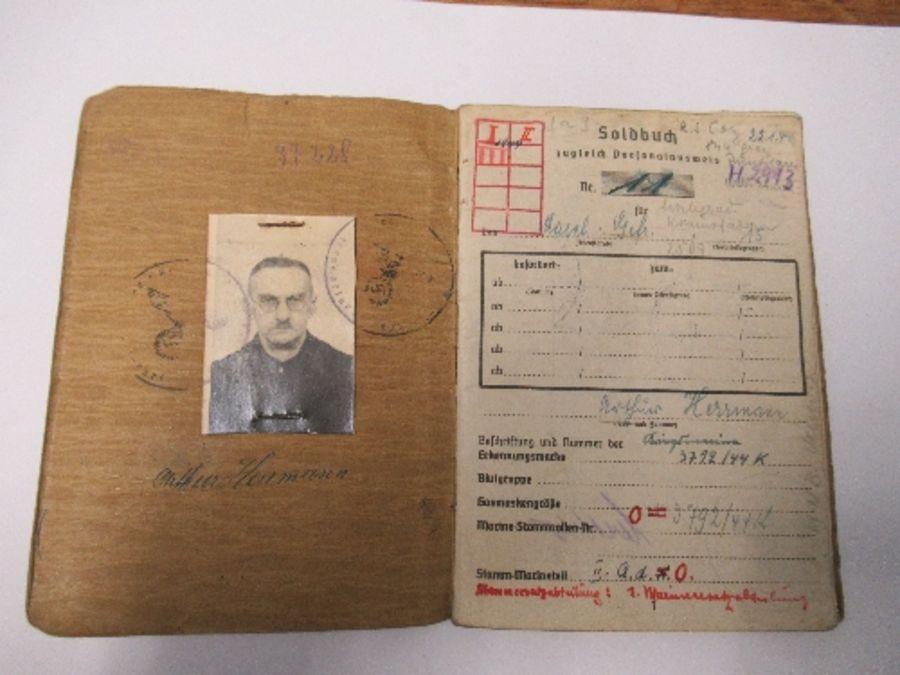 World War II, Kreigsmarine Soldbuch, belonging to Lance Corporal Machinist (Weapons Engineer) Arthur - Image 3 of 8