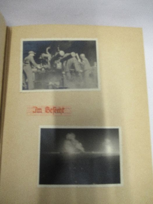 A World War 2 Luftwaffe document group, to include Third Reich style 1/611 photograph album with - Image 6 of 8