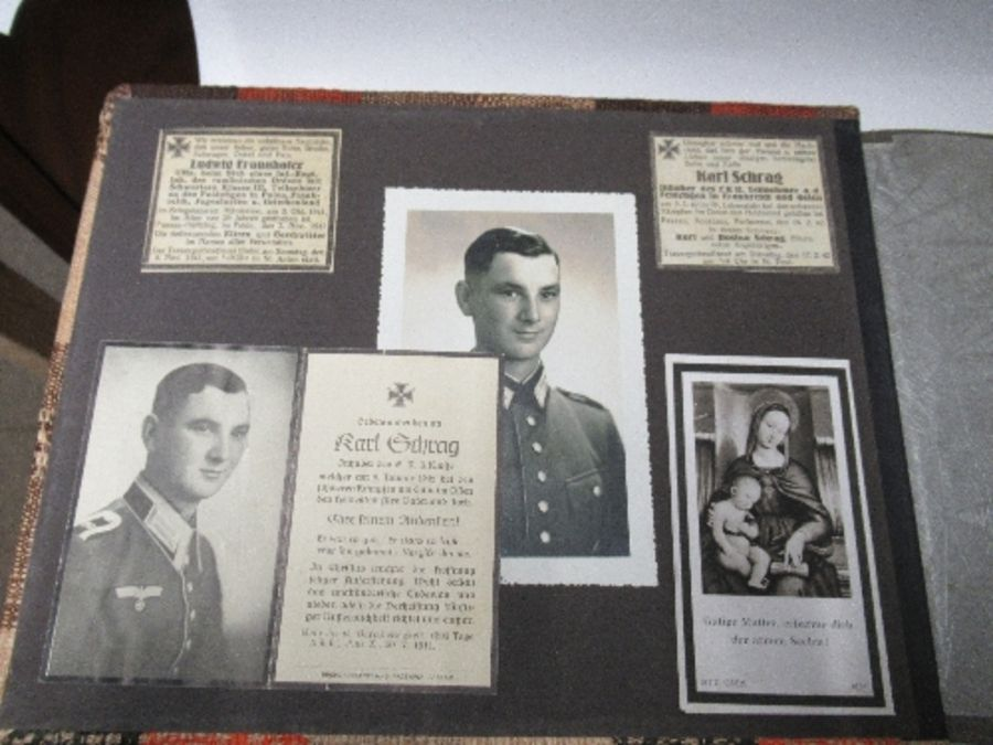 Two photograph albums, the inside front cover of one with World War 2 death notices for Karl - Image 2 of 12