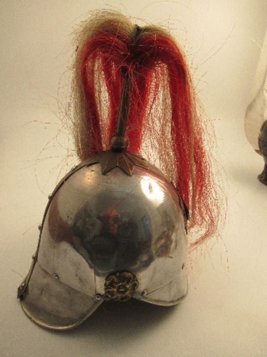 A parade helmet, bearing the crest and plume of the London Regiment - Image 3 of 6