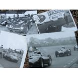 A quantity of motor racing photographs to include Lister, Lightweight E Type, C Type and other