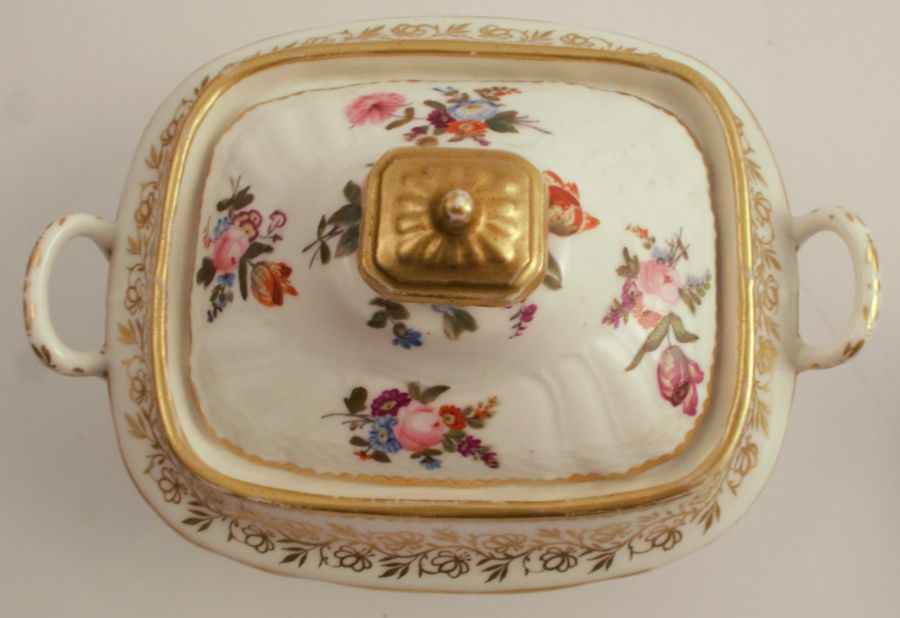 A pair of 19th century Swansea sucrieres, having a label to the base, Sir Leslie Joseph - Image 3 of 4
