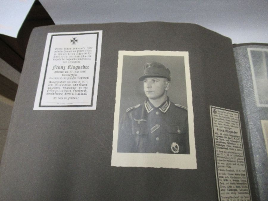 Two photograph albums, the inside front cover of one with World War 2 death notices for Karl - Image 5 of 12
