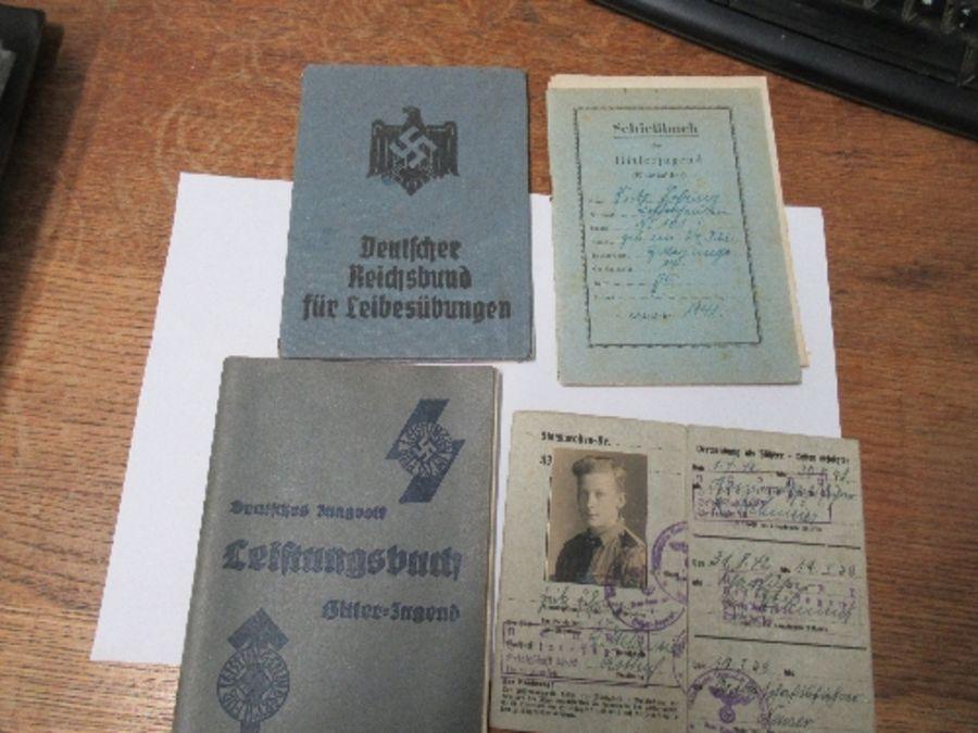 World War II, Hitler Youth ephemera relating to Fritz Jehring, to incude Youth Messenger armband,