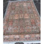 Two modern silk rugs, 72ins x 110ins and 84ins x 120ins