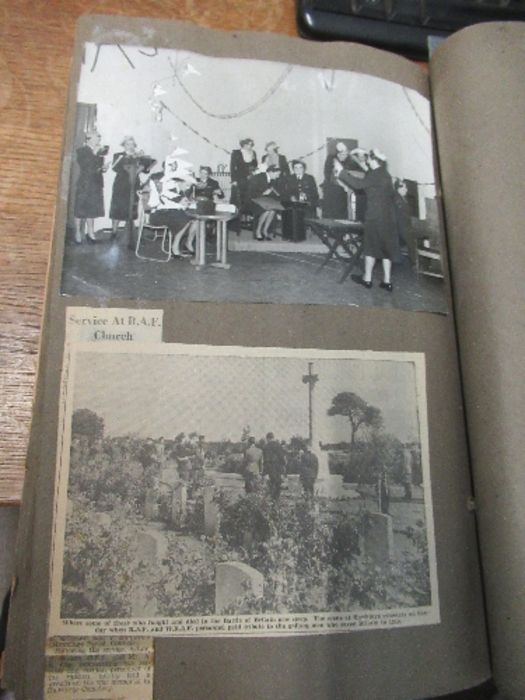 World War II, photograph / scrap album relating to Air Chief Commandant Dame Mary Welsh, from her - Image 6 of 6