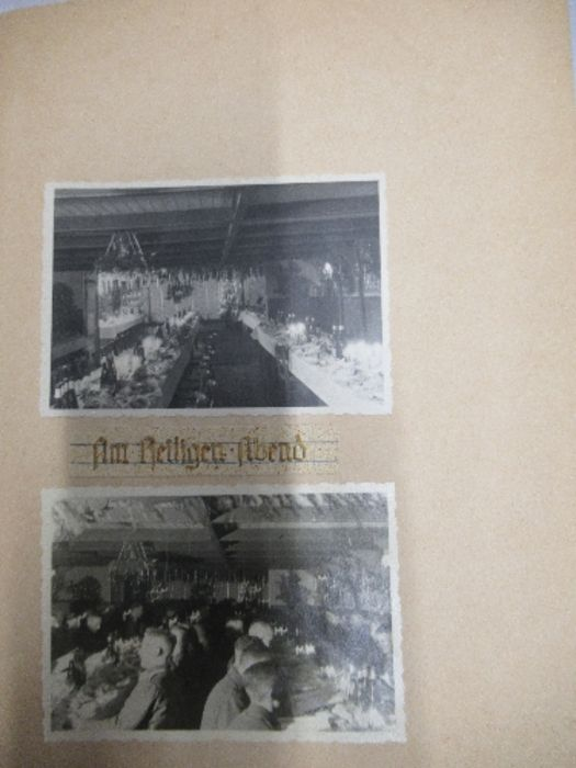 A World War 2 Luftwaffe document group, to include Third Reich style 1/611 photograph album with - Image 8 of 8