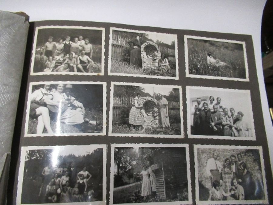 Two photograph albums, the inside front cover of one with World War 2 death notices for Karl - Image 4 of 12