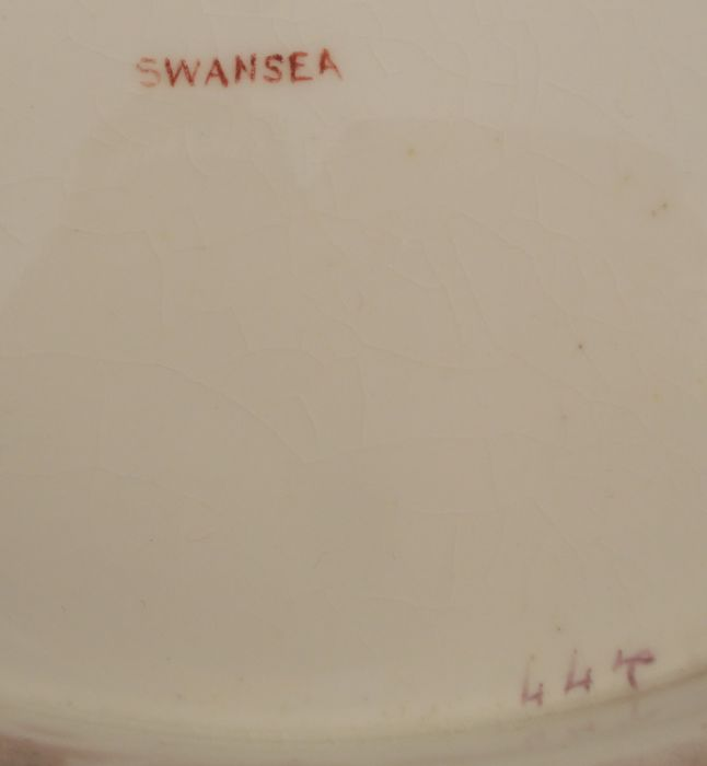 A 19th century Swansea plate, decorated with floral sprays, diameter 8ins, together with a 19th - Image 6 of 6