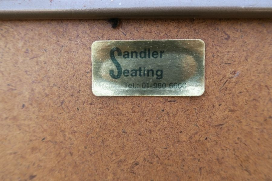Six Sandler Seating metal and upholstered folding chairs, no fire labels - Image 2 of 2