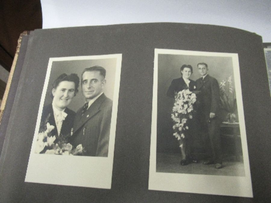 Two photograph albums, the inside front cover of one with World War 2 death notices for Karl - Image 3 of 12