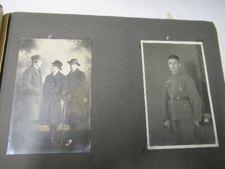 Two photograph albums, the inside front cover of one with World War 2 death notices for Karl - Image 9 of 12