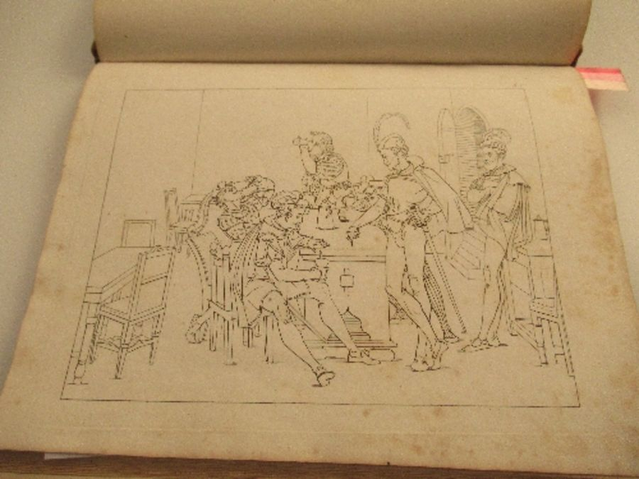 RETSCH Friedrich, a series of twenty six outlines of GOETHE'S TRAGEDY OF FAUST 1820, from the - Image 3 of 6