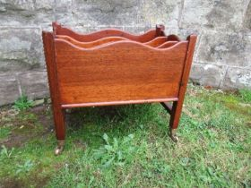 A mahogany Canterbury, width 17ins x height 16.5ins