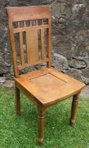 An early 20th century continental Art Nouveau hall chair
