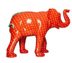 Strawberrephant A strawberry elephant H1600mm x L2150mmx W800mm, weight 40kg Artist: Matthew