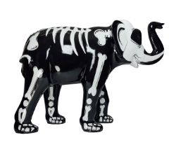 It's What's Inside That Counts A skeleton elephant H1600mm x L2150mmx W800mm, weight 40kg Artist: