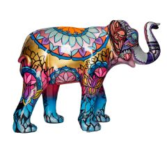 Sundar  Indian and Thai inspired linework pattern in bright colours H1600mm x L2150mmx W800mm,