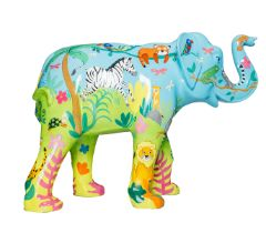 Wild World A selection of wild animals in a jungle setting H1600mm x L2150mmx W800mm, weight 40kg