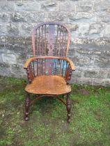 A Windsor armchair
