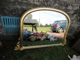 37117 An over mantle mirror