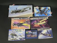 Seven Various WWII German War Plane etc. Kits 1/72 Scale. Including Hobby, Special Hobby, Amodel and