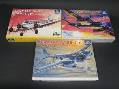Three Italeri WWII German War Plane etc. Kits 1/72 Scale. No. 069, 022, 102. Appear unmade, complete