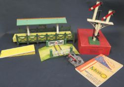 A Collection of Hornby etc. O Gauge Accessories including Platform for 'Wembley', Signal, Bridge,