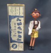 A Rare Pelham Puppet Tyrolean Boy with Flat Lead Hands in Box