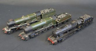 Three Hornby Dublo OO Gauge Locomotives and Tenders including LMS 8158, Great Western Rougemont