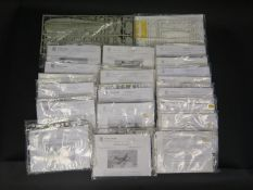 Twenty-Three Huma Modell German War Plane etc. Kits 1/72 Scale. Appear unmade, complete and bagged.