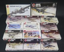 Fourteen Airfix German War Plane Kits 1/72 Scale. Appear unmade, complete and boxed.