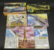 Four Condor and WK Models WWII German War Plane and Missile Kits 1/72 Scale. Including Heinkel and