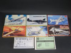 Eight PM Model, Karo-As, Eurokit, Falcon and Horten WWII German War Plane Kits 1/72 Scale. Appear