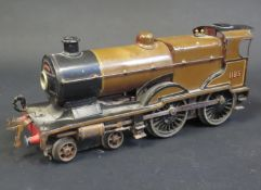 An Electric Hornby O Gauge No. 2 Special L.M.S. Locomotive '1185', heavily sun faded.