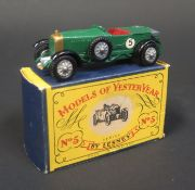 A Matchbox Models of Yesteryear Y5-1 (unlisted) 1929 Le Mans 4 1/2 Litre Bentley in British Racing