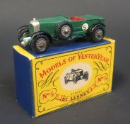 A Matchbox Models of Yesteryear Y5-1 (unlisted) 1929 Le Mans 4 1/2 Litre Bentley, British Racing