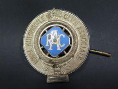 A Royal Automobile Club Association Enamel Car Badge