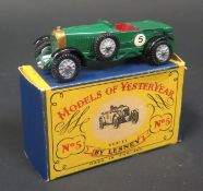 A Matchbox Models of Yesteryear Y5-1-7 1929 Le Mans 4 1/2 Litre Bentley with British Racing Green