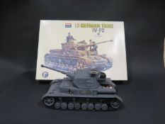 An Imai 1/15 Scale German Tank IV-F2 Plastic Assembly Kit with Futaba RipMax Radio Control