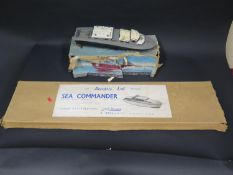 A Keil Kraft Aerokits Ltd. Sea Commander Cabin Cruiser unmade wooden kit (boxed) and a Vosper R.A.F.