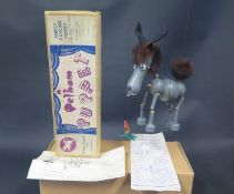 A Pelham Puppet Donkey in Box