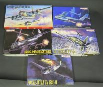 Five Dragon WWII German War Plane Kits 1/72 Scale. 5007, 5009, 5012, 5014, 9005. Appear unmade,