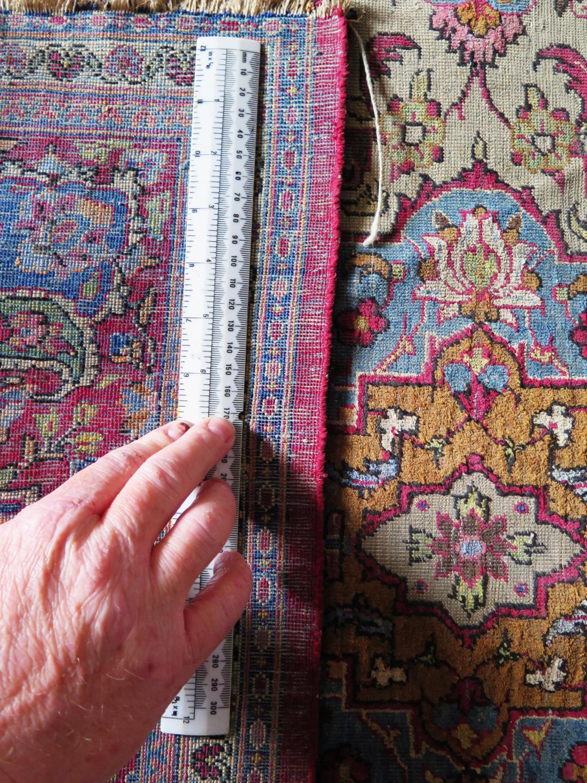 A Persian Qum (Ghom) Silk Garden Rug, c. 190x125cm - Image 2 of 6