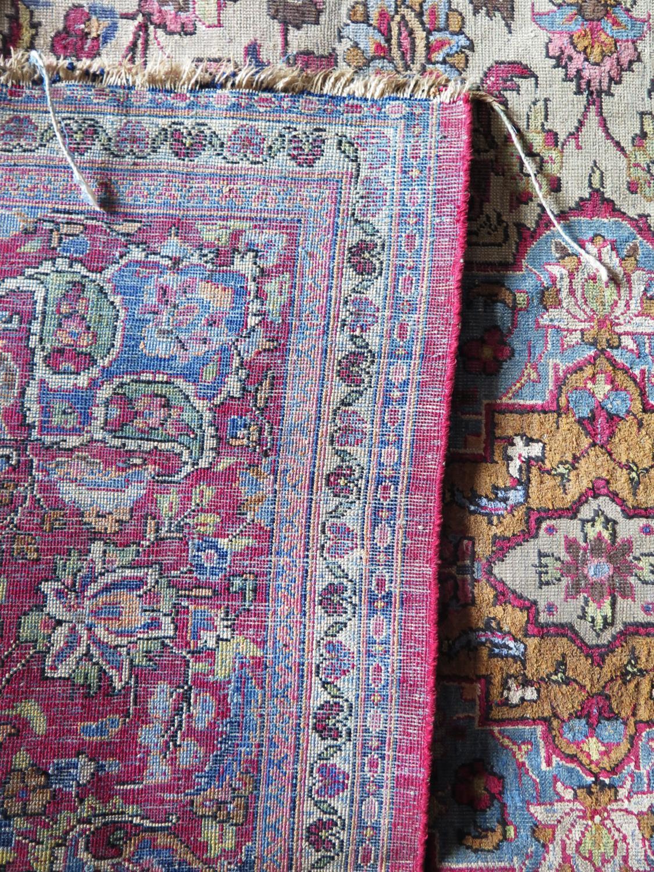 A Persian Qum (Ghom) Silk Garden Rug, c. 190x125cm - Image 4 of 6