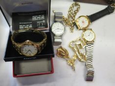 A Collection of Wristwatches including boxed gent's Accurist