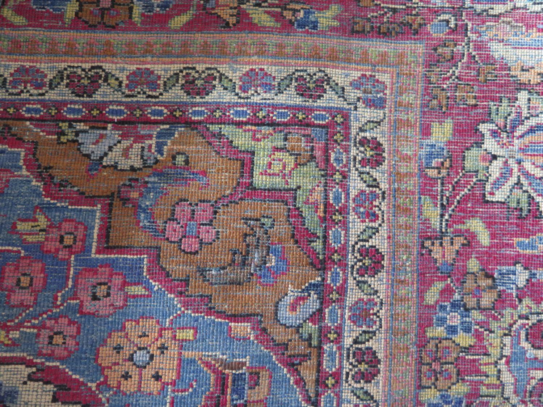 A Persian Qum (Ghom) Silk Garden Rug, c. 190x125cm - Image 5 of 6