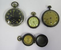 Three Pocket / Fob Watches (A/F) and sovereign case