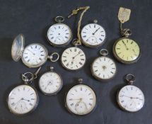 Ten Silver Cased Pocket / Fob Watches